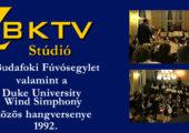 A Budafoki Fúvósegylet és a Duke University közös hangversenye 1992