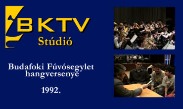 A Budafoki Fúvósegylet koncertje és bemutatkozása 1992